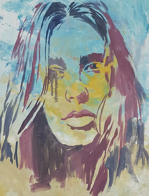 Mademoiselle1, 2018 | Amir Sabetazar | Acrylic on Canvas |67x51cm