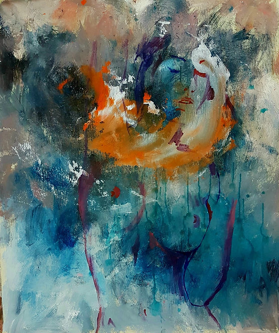Intirgi, 2018 | Amir Sabetazar | Acrylic on canvas |62x52cm