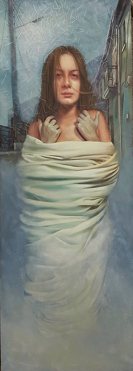 Woman's cocoon, 2018 | Vishka Sabetazar | Acrylic on Canvas |210x7