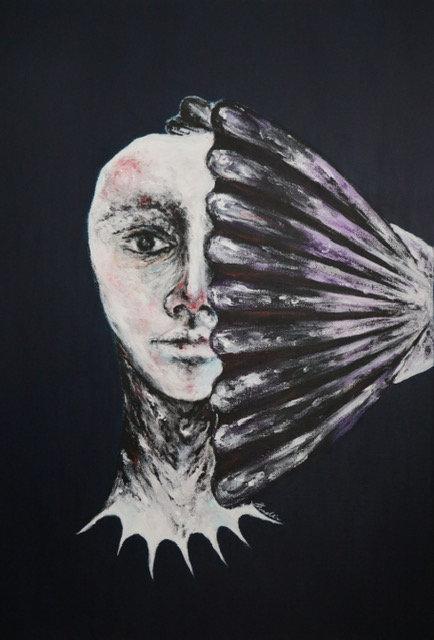 Shadli Shaghaghi | Pearl, 2019 | Acrylic on canvas | 50x70cm