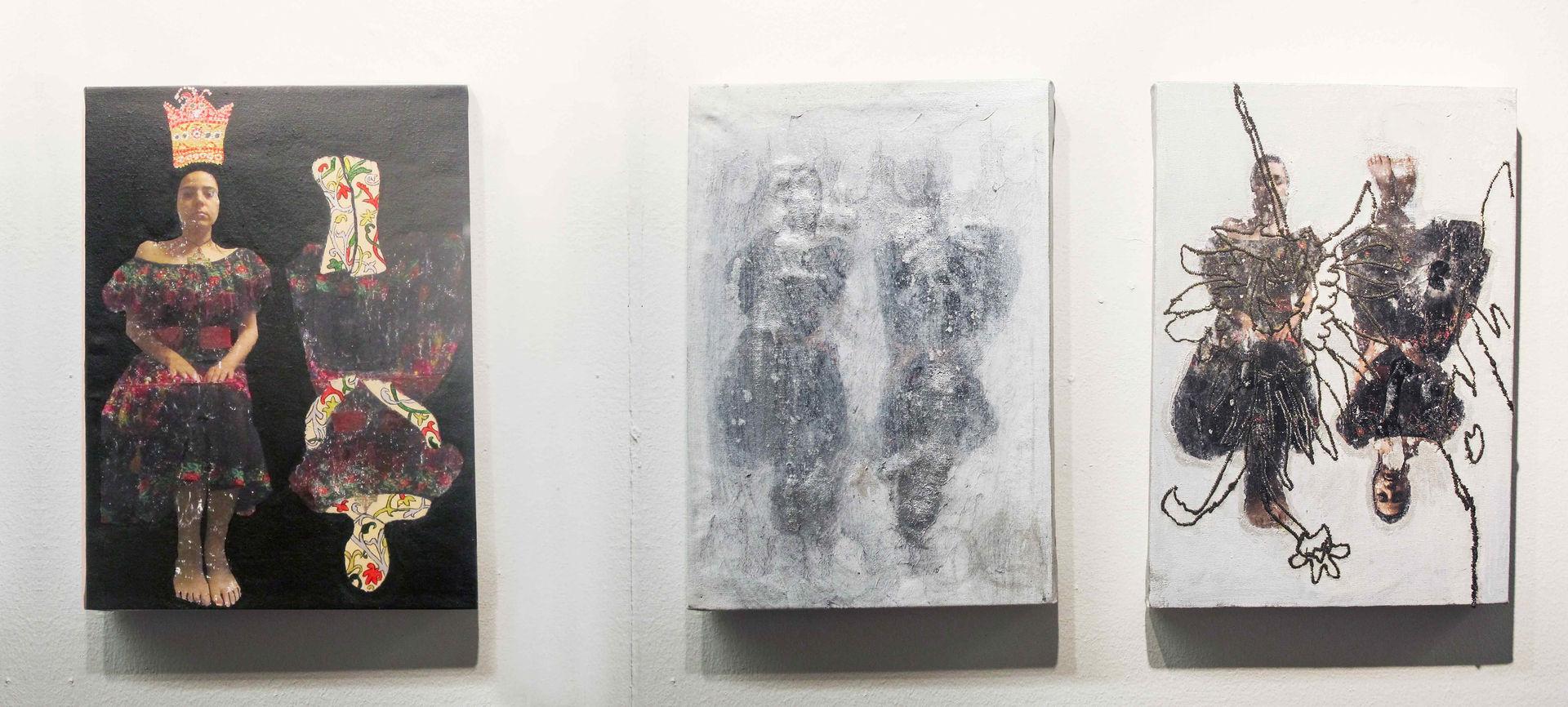 Fatemeh Takhtkeshian, Fragmented, 2016, Mixed media on canvas, 22x29 cm