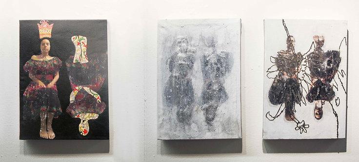 Fragmented 2 | Fatemeh Takht Keshian | Mixed media on canvas | 22 x 29 cm, each