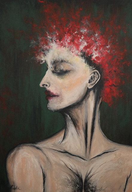 Shadli Shaghaghi | Untitled, 2019 | Acrylic on canvas | 50x70cm