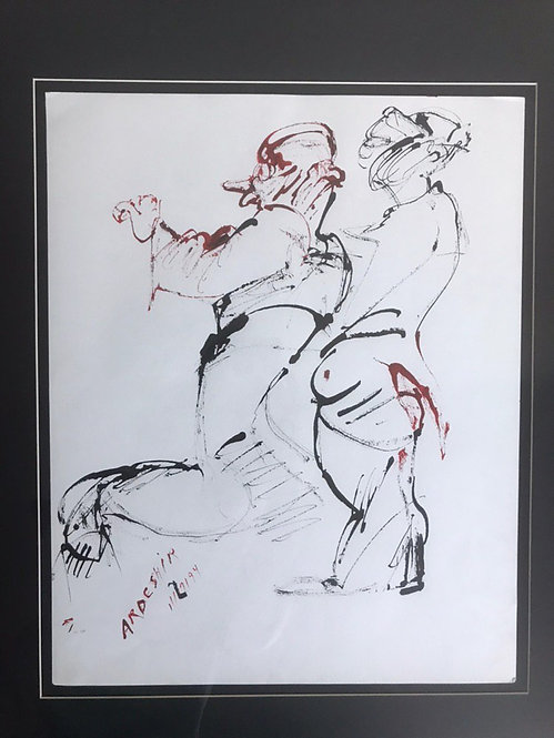 Untitled II | Ardeshir Mohassess | Drawing,lnk on arch paper | 17 x 14 inch