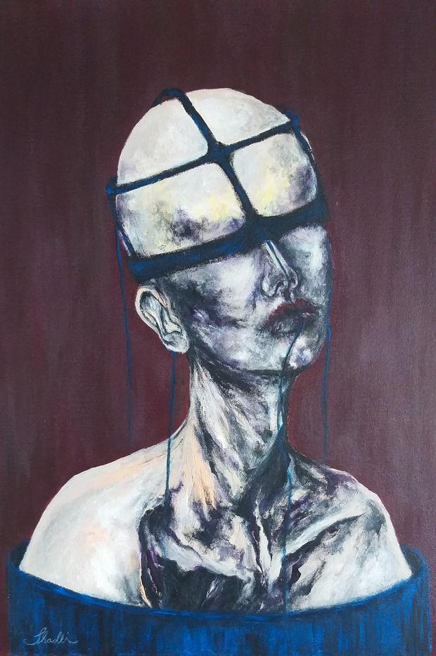 Shadli Shaghaghi, Numb, 2019, Acrylic on canvas, 50 x 70 cm