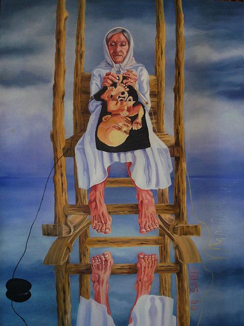 Sima Eftekhary-Rad |Goddess Mother, 2018 | Oil on Canvas |120x 90cm