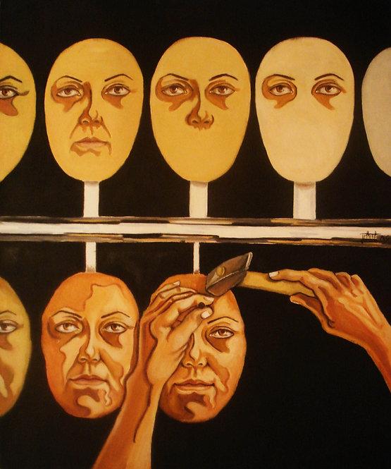 Sima Eftekhary-Rad |Creation3, 2011 | Oil on Canvas |70x 50cm