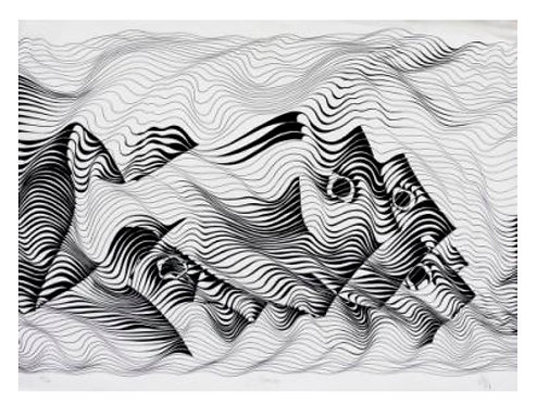 MOTION I | Behrouz Nournia | Ink on arch paper | 22 x 30 inch