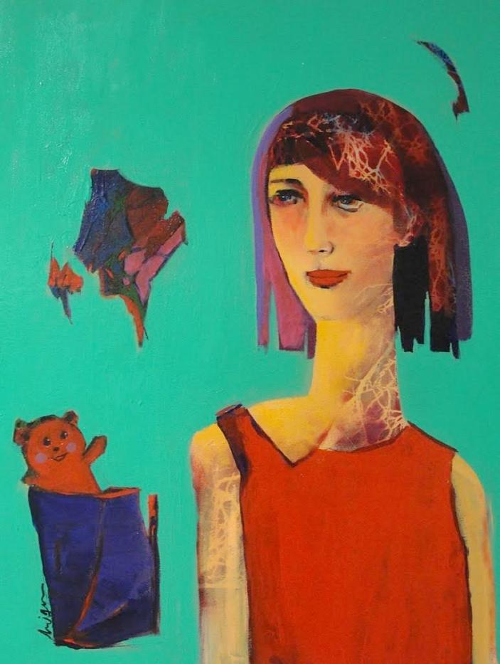 Blue Rhythm | Mojan Mazaffari | Acrylic & Mixed media on canvas | 40 x 60 cm