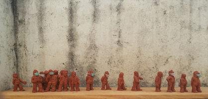 Rumit donga   pandemic, 2020  Terracotta