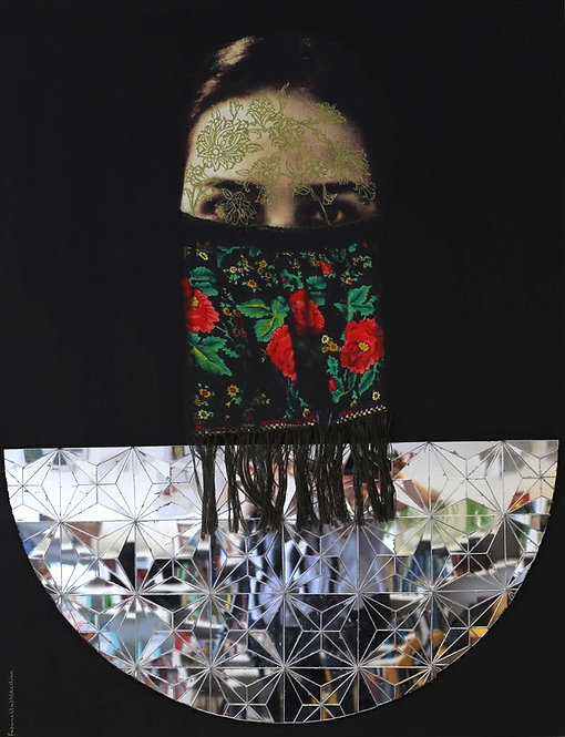 Fatemeh Takht Keshian | Negotiating 2 | Mixed media on canvas, 2015, 60x78 cm