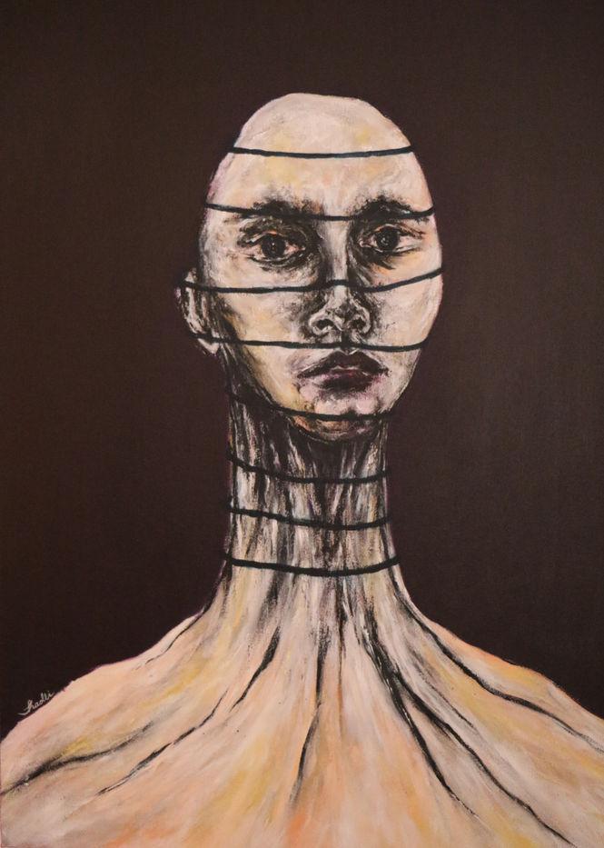 Shadli Shaghaghi, Untitled, 2019, Acrylic on canvas, 50 x 70 cm
