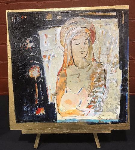 Holy Presence | Mojan Mazaffari | Acrylic on Paper | 30x40 cm