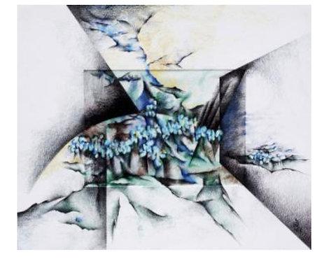 Flight | Behrouz Nournia | Color pencil on museum board and mylar | 38x 34 inch