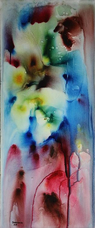 Shahnoosh Amiryeganeh|Frost I ,2010 |Watercolour & ink on card|29x69cm
