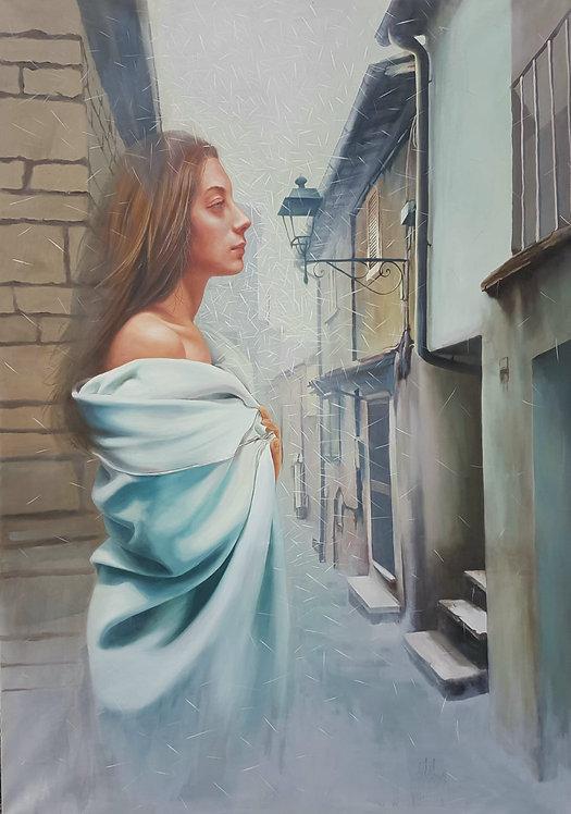 Wandering shadows, 2018   Vishka Sabetazar   Oil on Canvas  203x148cmm