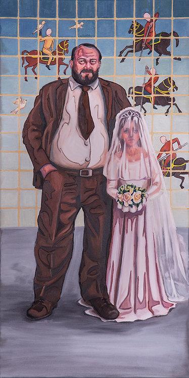 Sima Eftekhary-Rad |Hunting Ground of, 2018 | Oil on Canvas |100 x 50cm
