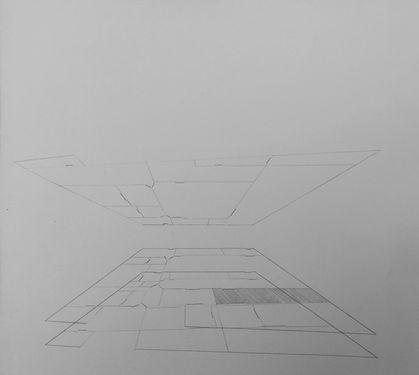 Arooshi Bagri   Location 24x21   Graphite on paper   25x20cm