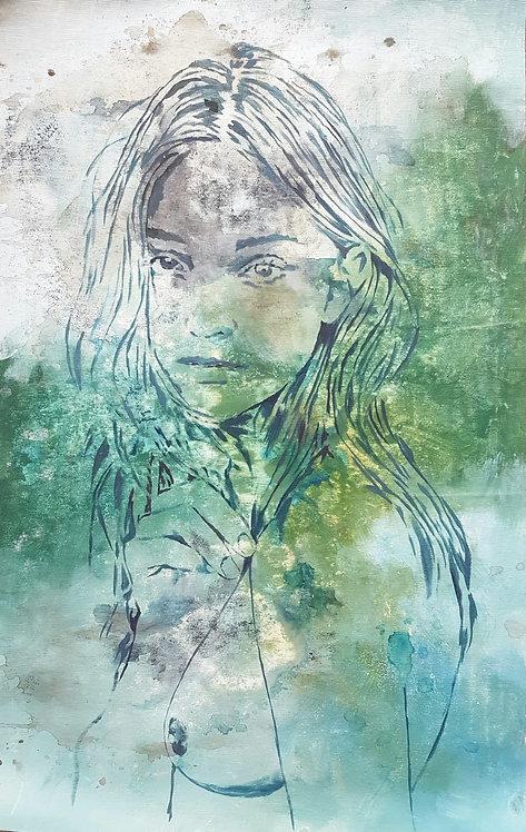 Cold Memories, 2019 | Amir Sabetazar | Acrylic on Canvas |80x50cm