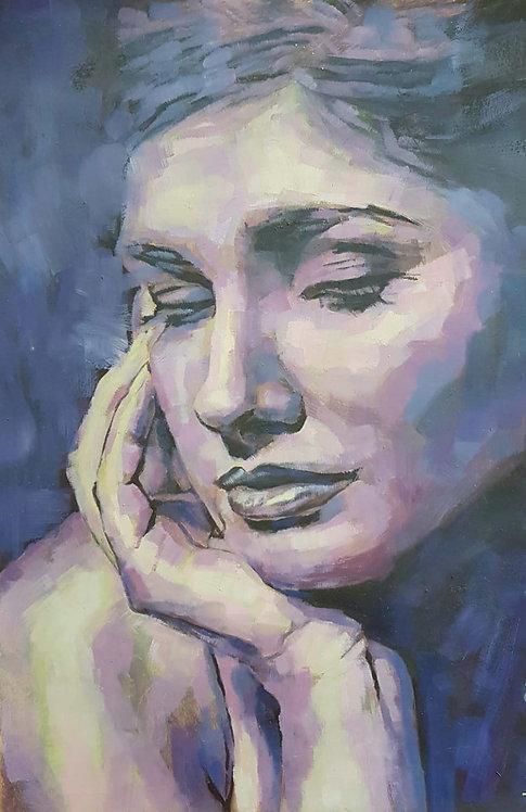 TheCoffeeAroma, 2009 | Vishka Sabetazar | Oil on paper |47x31cm