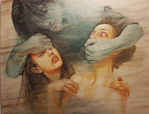I see you as the shadow, 2018 | Vishka Sabetazar | Oil on wood | 150×120cm