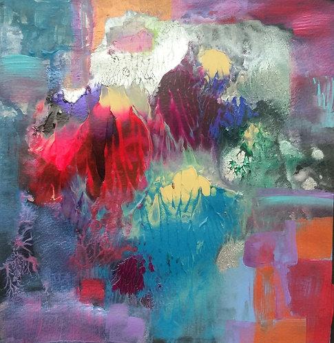 Neda Jafarzadeh-Kermani |untitled, 2019 |Acrylic on paper | 20 X 20  cm