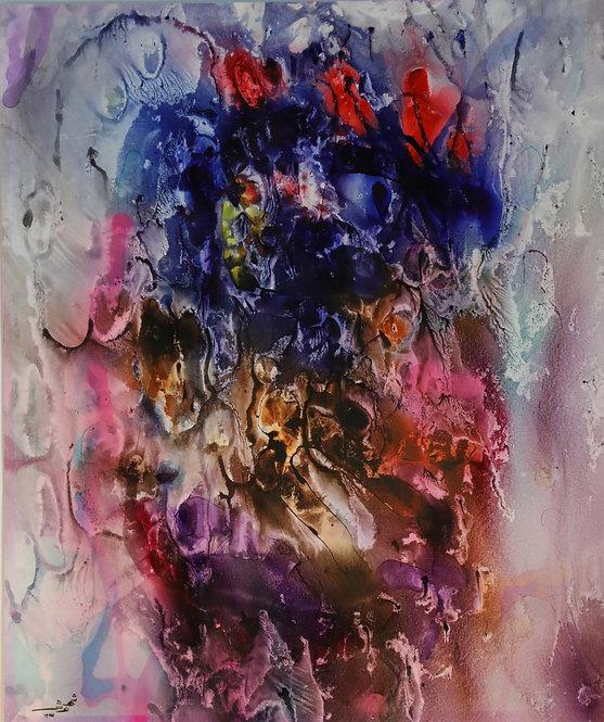 Shahnoosh Amiryeganeh  Coral,2008  Watercolour & ink on card  43x51cm