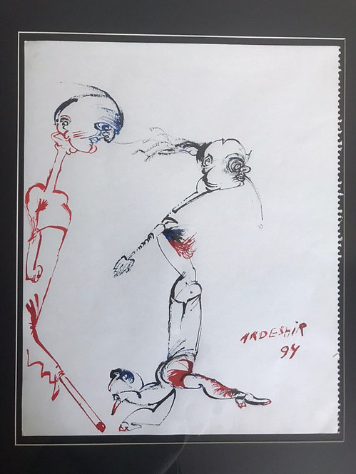 Untitled I  | Ardeshir Mohassess | Drawing, lnk on arch paper | 17 x 14 inch
