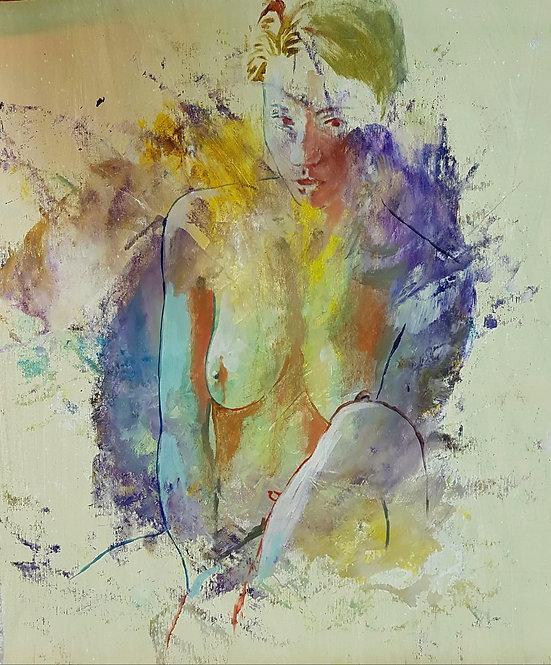 Mademoiselle2, 2018 | Amir Sabetazar | Acrylic on Canvas |62x52cm