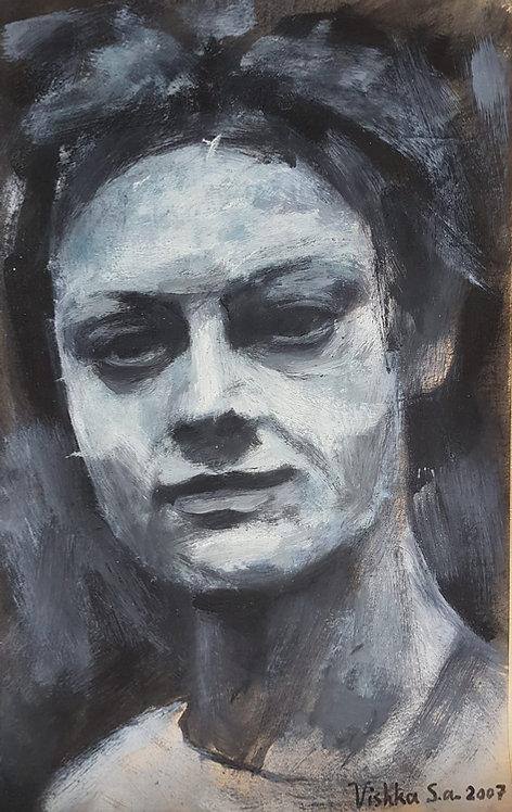 Empty, 2007 | Vishka Sabetazar | Oil on paper |50x32cm