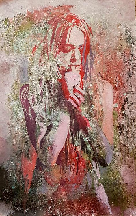 Thirst, 2019 | Amir Sabetazar | Acrylic on canvas |80x50cm
