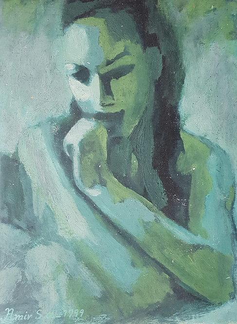 The Choise, 1999 | Amir Sabetazar | Oil on paper |46x35cm