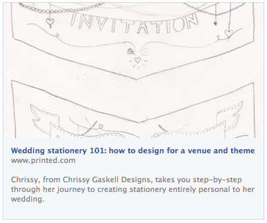 Here's my post on Printed.com all about my wedding stationery! X