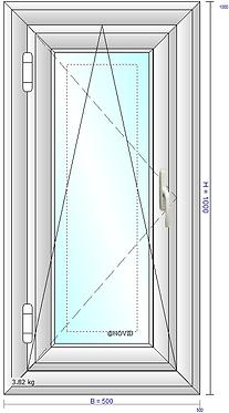 Ventana oscilobatiente (L45) cristal Float 4mm