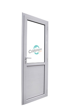 Puerta de rebatir con machimbre inferior (L45) cristal Float 4mm