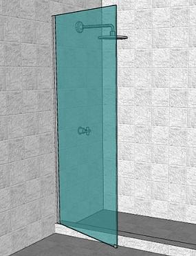 Mampara de Rebatir  Bisagra Telescópica Cristal Laminado 5+5mm