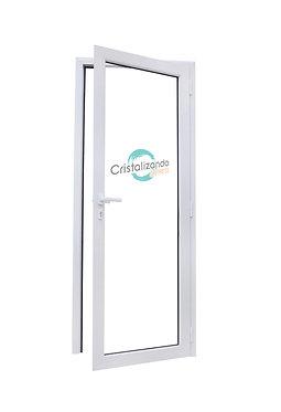 Puerta de rebatir de 1 hoja sin travesaño (L45) cristal Laminado 3+3mm