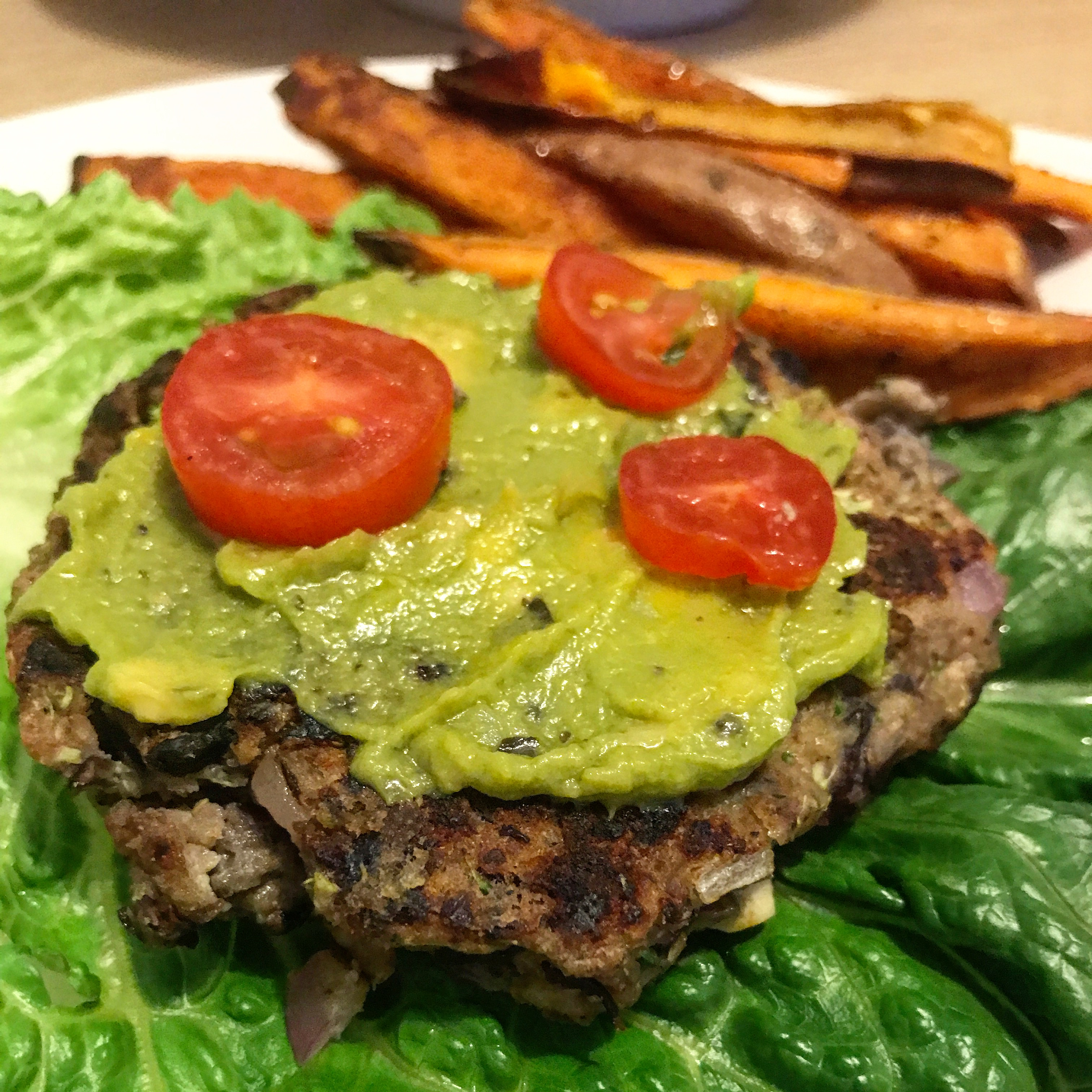 Portobello Black Bean Burgers