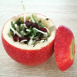 Scooped Apple Salad
