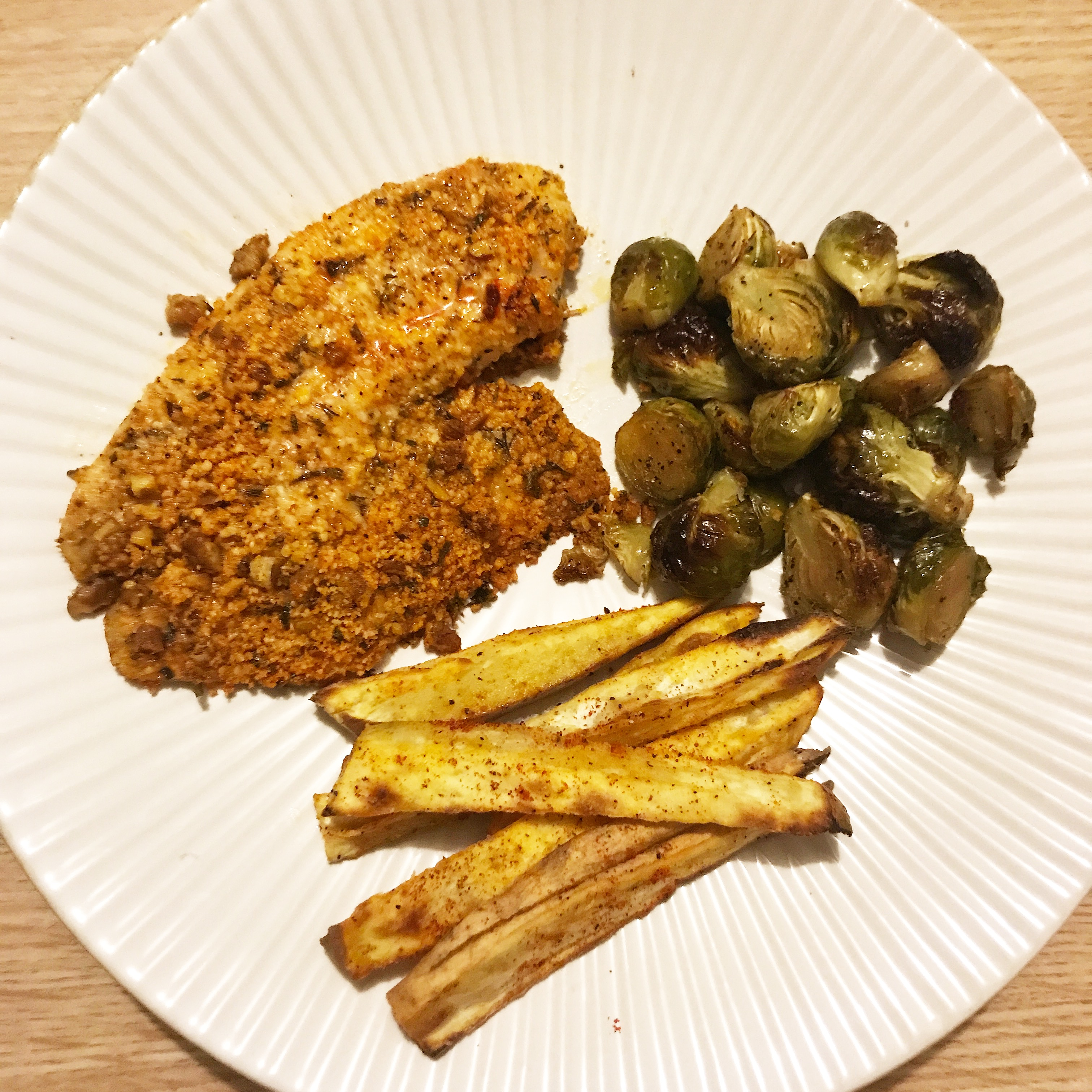 Parmesan and Pecan Crusted Tilapia
