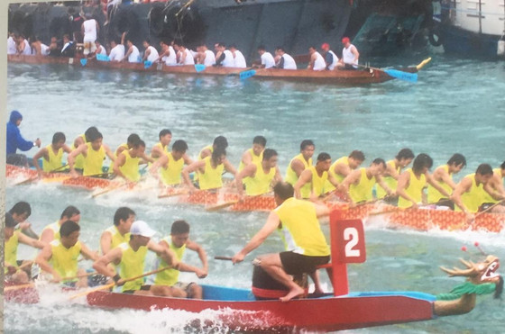 I watched dragon boat races in Hong Kong. Cruised the Pearl River in China. Saw the Berlin Wall and