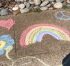 From Chalk Art Messages to  Driveway Happy Hours and Teddy Bears and Lights in the Window, Neighborh