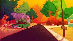 old neighborhood street