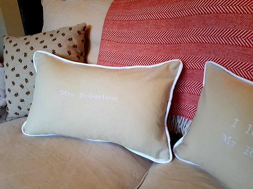 Cotton Wedding Anniversary Cushions