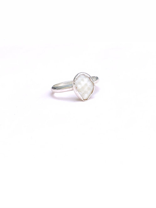 Sterling Silver Organic Shell Ring / Size 7