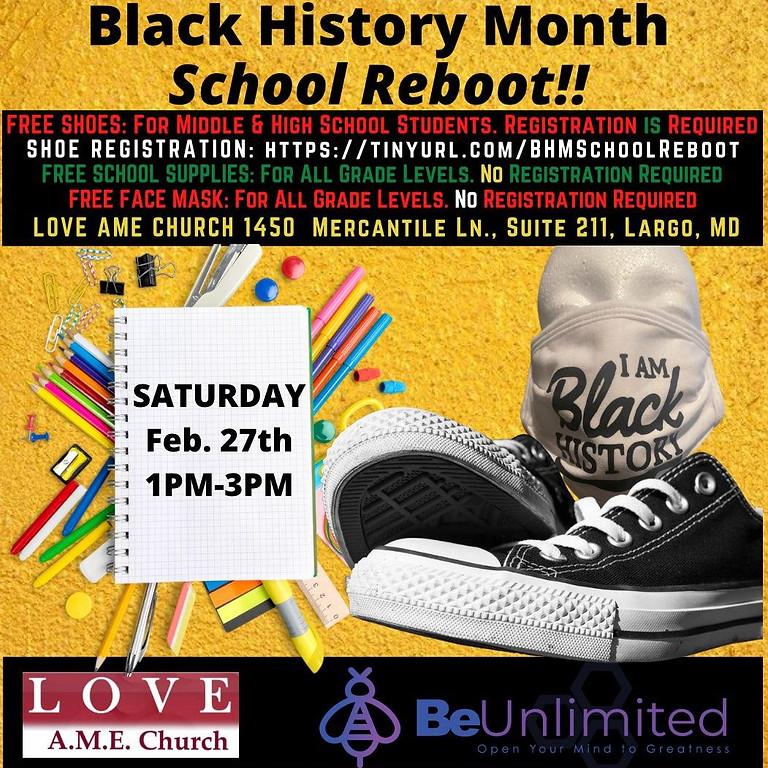Black History Month- School Reboot