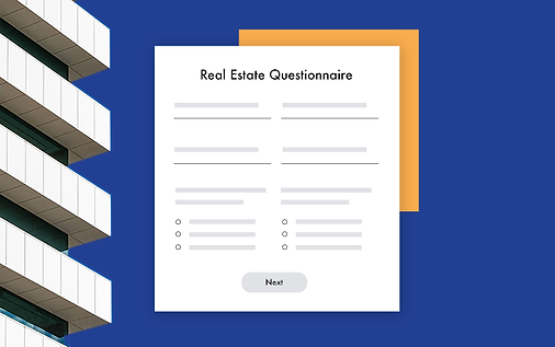 A blank real estate questionnaire