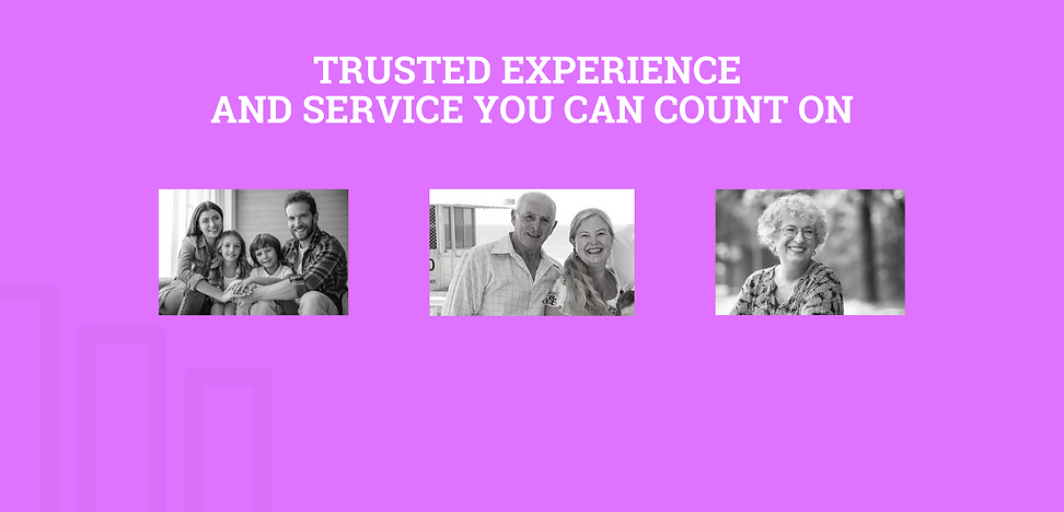 trusted experience and service you can count on