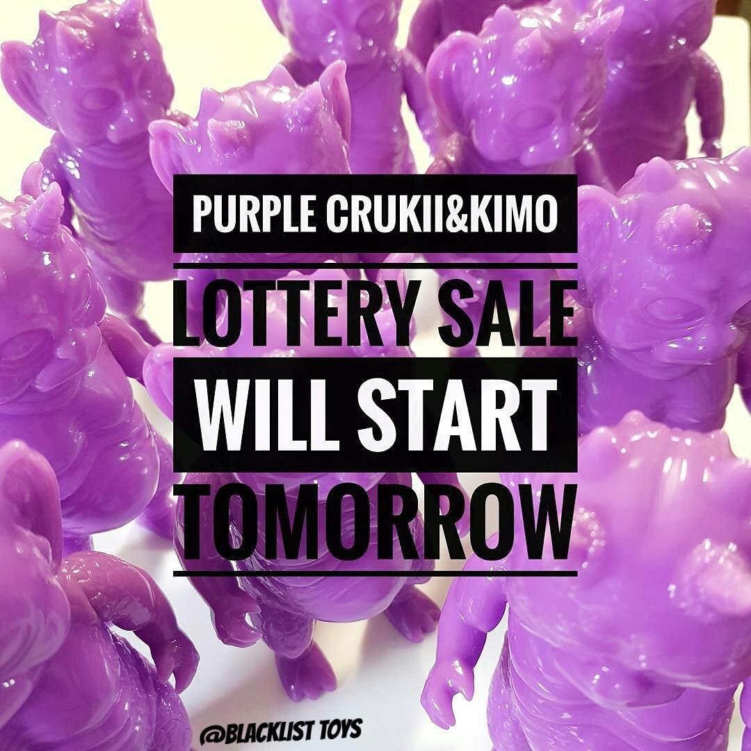 "Crukii & Kimo ""PURPLE BLANK"" Lottery"