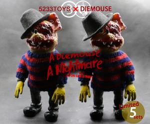 "5233 Toys X Die Mouse Kaiju ""A NIGHTMARE ON ELM STREET"" DieMouse | Kaiju Sofubi"